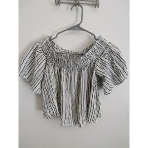 Urban Outfitters Striped Crop Top Sz Small